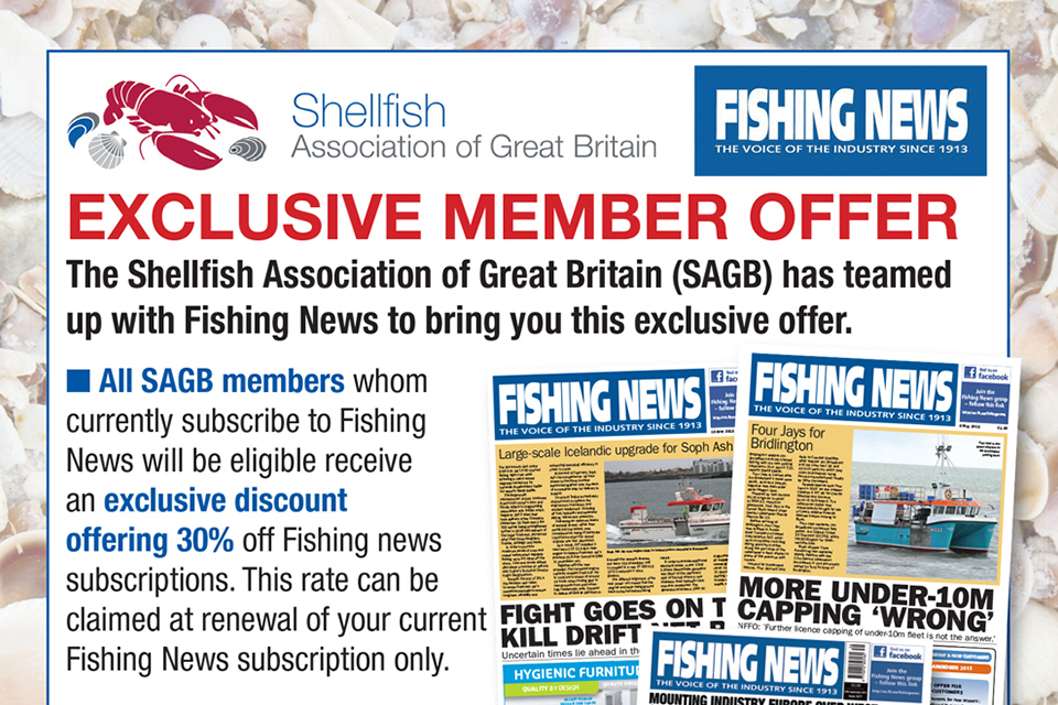 Fishing News Offer, Shellfish Association of Great Britain, SAGB